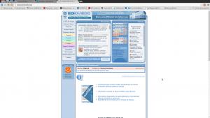 imagen de la web antigua de la EOI, mala UX y diseño no responsive
