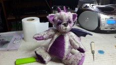 Puff the Baby Dragon - Honeydew Bears kit - Mohair