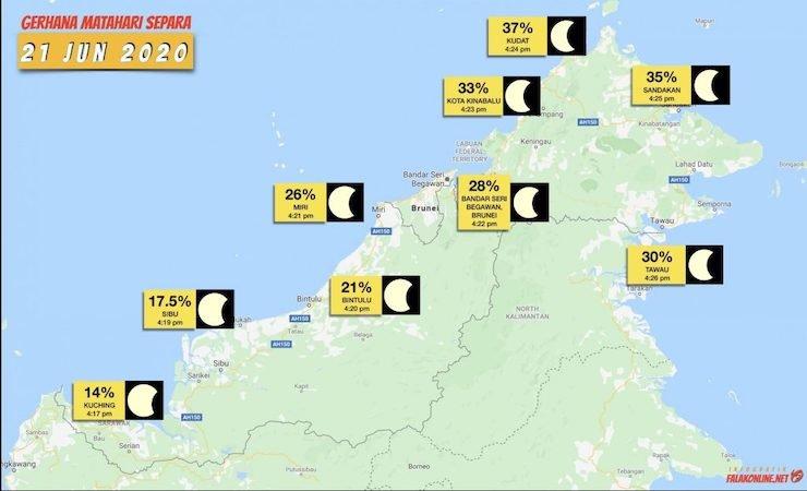 Gerhana Matahari Sabah Sarawak