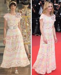 Défilé Chanel croisière 2017 - Vanessa Paradis sur le tapis rouge de Cannes
