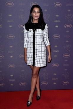 Leila Bekhti en robe Courrèges de la collection automne-hiver 2016-2017 au dîner d'ouverture du Festival