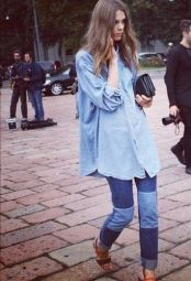 Oversized chambray shirt