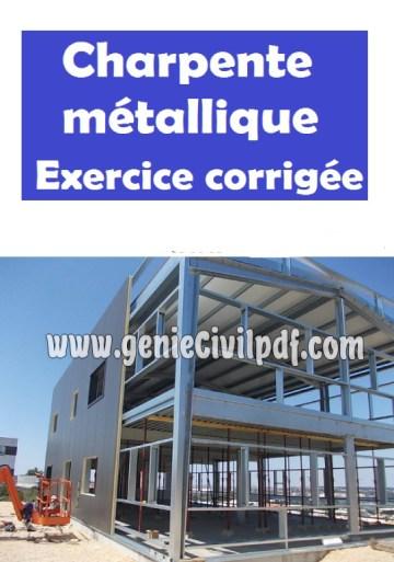 Exercice avec solution en charpente métallique