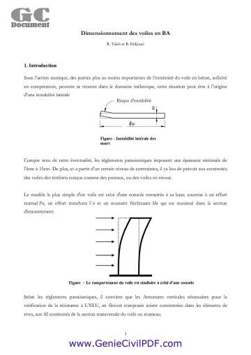 Méthodes de calcul des voiles