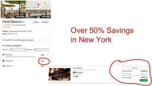 Huge savings on GenieTraveler.com for Hotel Beacon, New York City