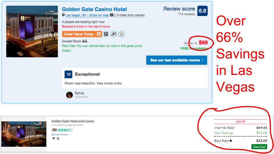 Huge savings on GenieTraveler.com for Las Vegas, NV