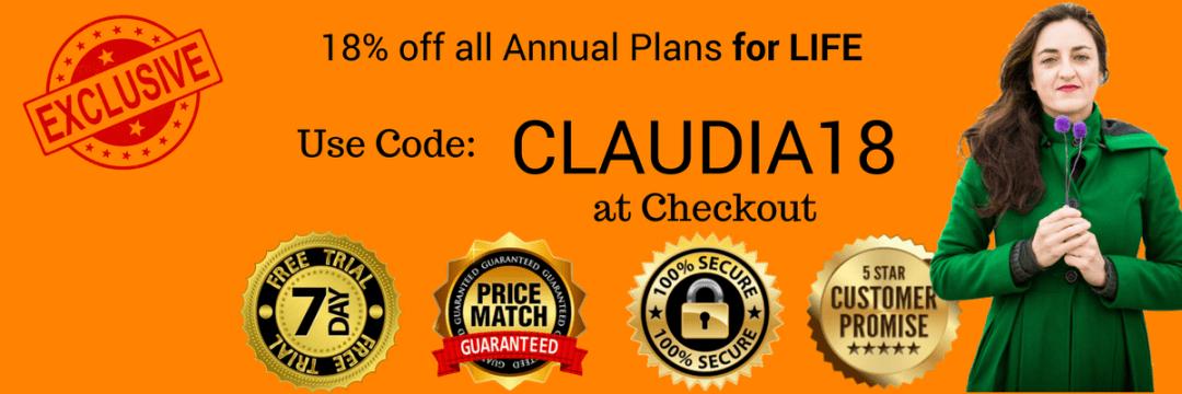 CLAUDIA20 coupon/discount code