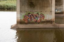 1Graffiti - N2 Freeway bridge over the Mtwalume river, KZN