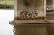 1Graffiti - N2 Freeway bridge over the Mtwalume river, KZN