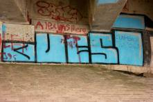 2Graffiti - N2 Freeway bridge over the Mtwalume river, KZN
