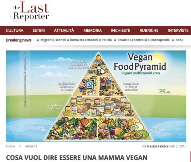 Essere una mamma vegan - The Last reporter