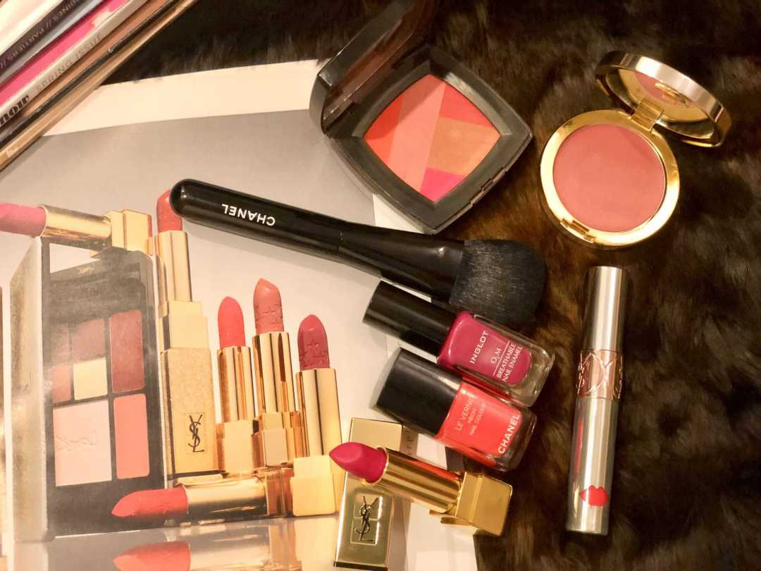 pink makeup collection with similar makeup magazine
