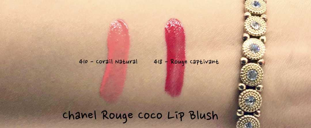 Swatches of Chanel Coco Lip Blush
