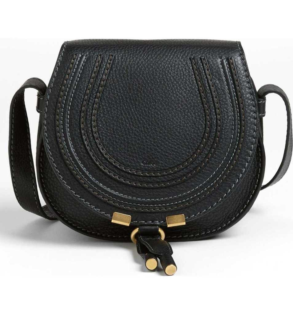 Chloe black leather crossbody bag