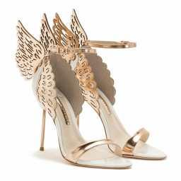 Evangeline Winged Leather Sandals