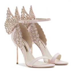 Pink Glitter Leather Sandal