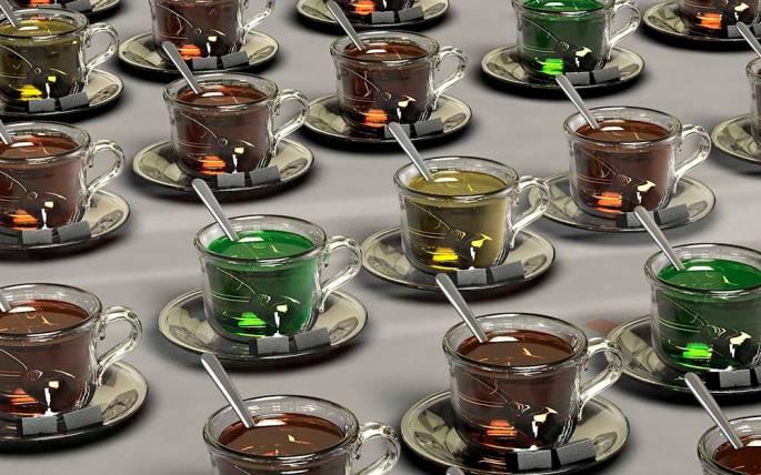 Préparation du thé vert