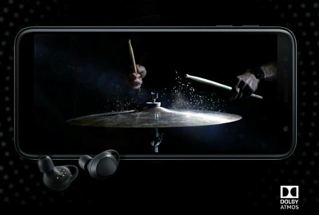 Samsung Galaxy J6 plus Dolby atmos