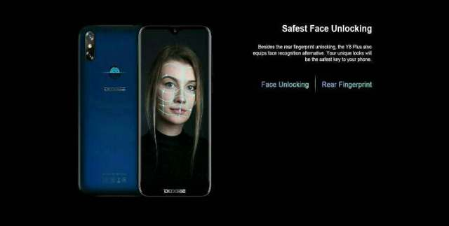 Doogee Y8 plus face ID