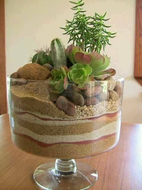 Amazing Ornaments For Your Plants Sand And A Fish Bowl