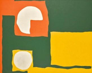 Patrick Heron Art For sale   Orange, Yellow, Dull Green and White