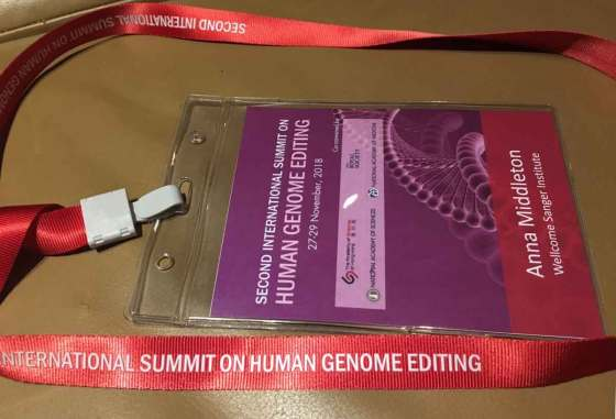 Second International Summit on Human Genome Editing - Anna Middleton, Visitor Pass