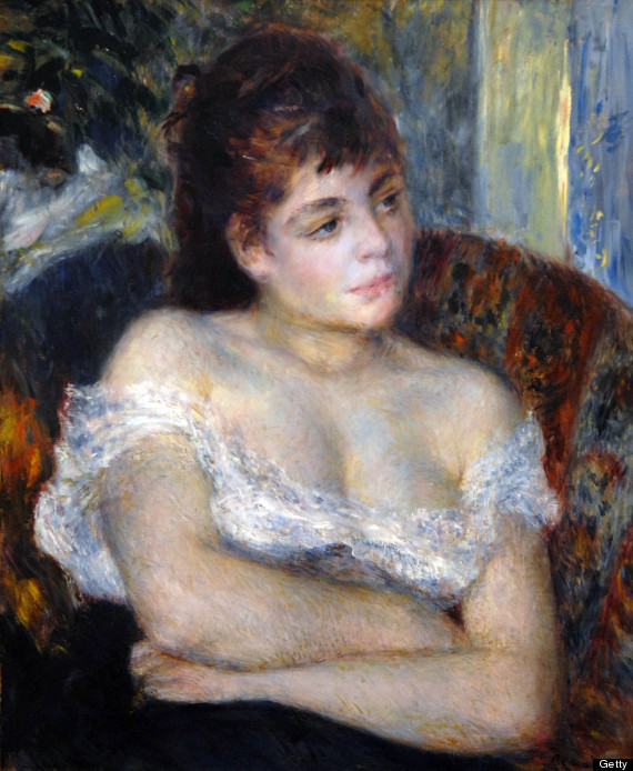 Pierre Auguste Renoir: Woman in an Armchair 1874, oil on canvas, Detroit Institute of Art. (Photo by APIC/Getty Images)