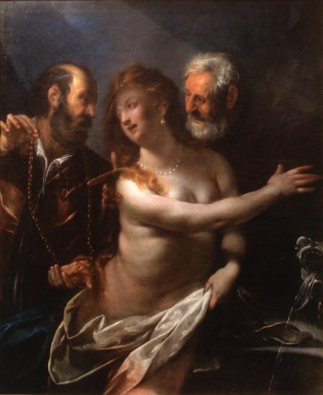 LB, Susanna e i Vecchioni, olio su tela, collezione privata