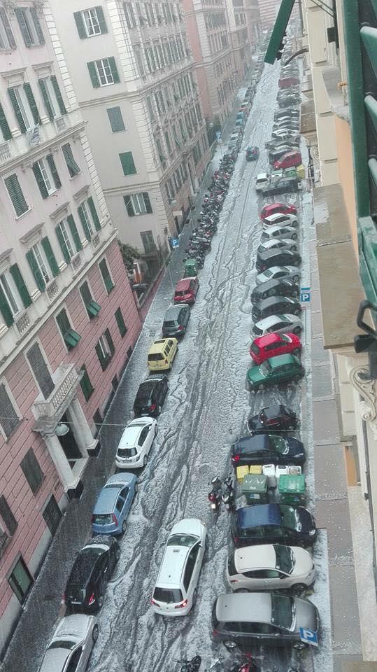 Grandinata a Genova
