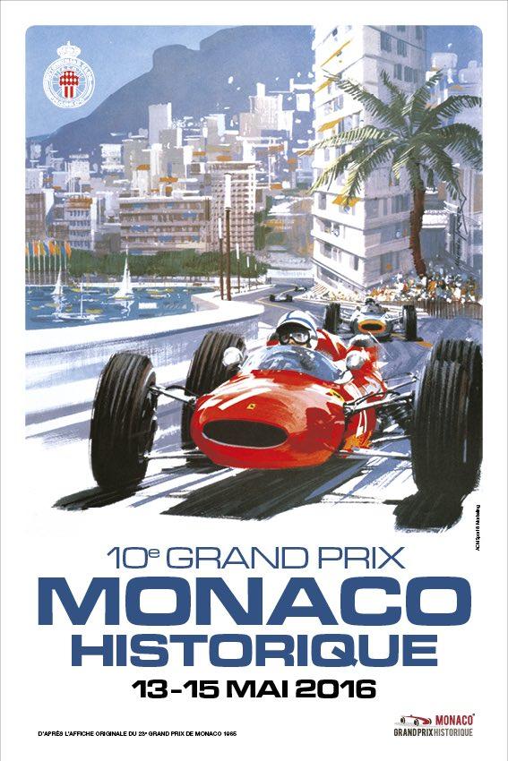 A monaco foto affiche grand prix di Monaco storico