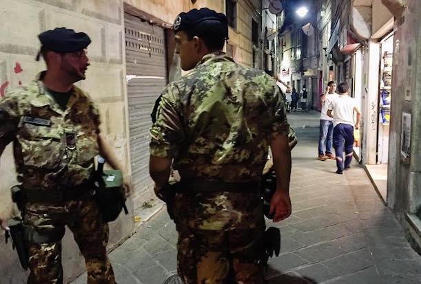 militari esercito, centro storico