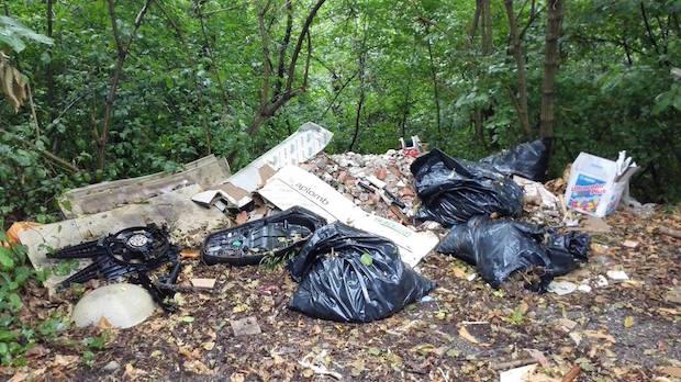 spazzaura rifiuti abbandonati 2