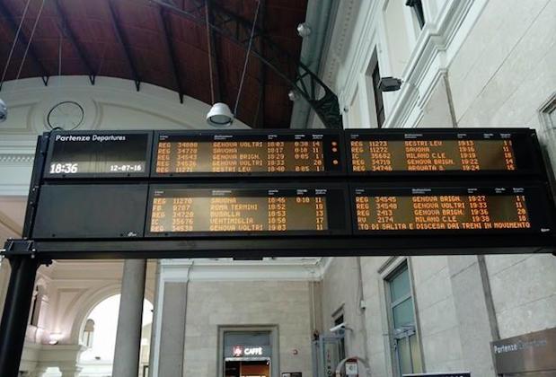tabellone treni principe ritardi