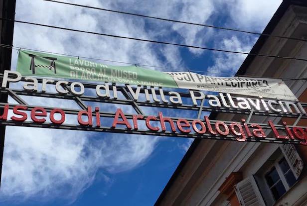 villa Pallavicini museo di archeologia insegna pegli
