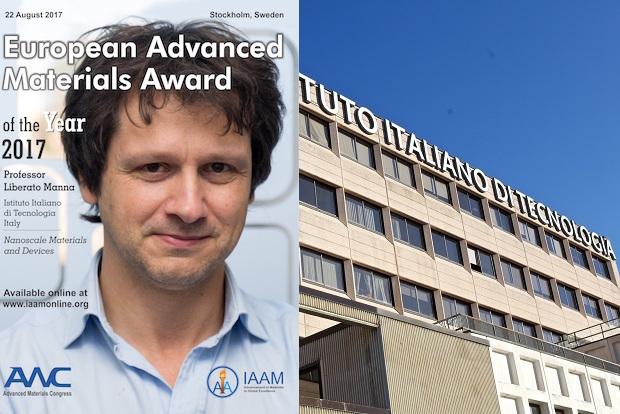 Libero Manna, direttore del team di nanochimica di Iit, ai vertici della ricerca europea nel campo dei nuovi materiali