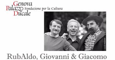 La vignetta di Besana, (Rub)Aldo promuove se stesso con Giovanni e Giacomo per la mostra al Ducale