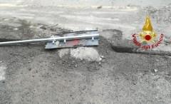 vigili del fuoco perdita gas Valpolcevera