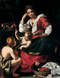 STROZZI inv.n.106 Madonna col Bambino e San Giovannino_(35x26,8)