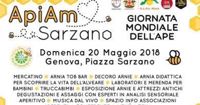 """Oggi a Sarzano """"Apiamo"""", api e miele protagonisti per tutto il giorno grazie al Civ"""