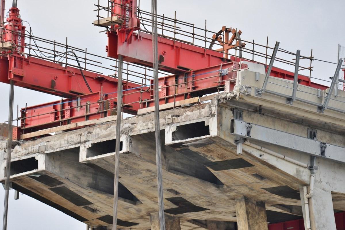 Cantiere di Ponte Morandi, sanzioni di Asl3 per il mancato rispetto di norme di sicurezza