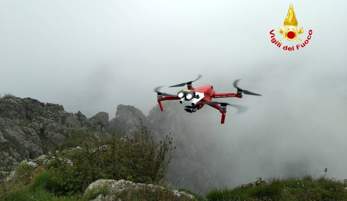 Ritrovato con i droni il corpo di Giuseppe Ciaccio. Era sulle alture del ponente