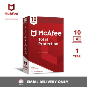McAfee Total Protection – 10 User, 1 Year Activation Key (No CD)