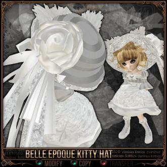 Curious Kitties - Belle Epoque Kitty Hat