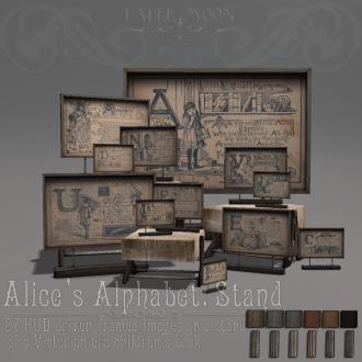 _pm_ Alices Alphabet_ Stand advert