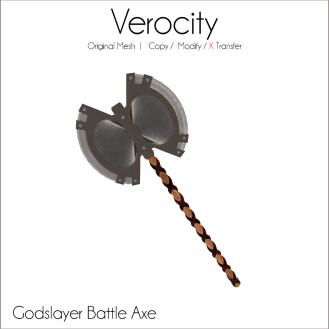 Verocity - Godslayer Battle Axe Ad