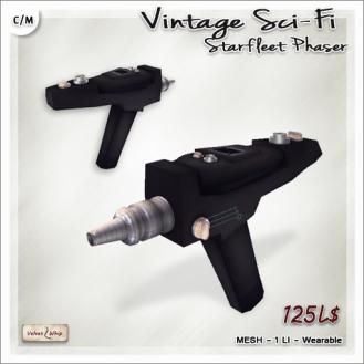 AD Vintage Sci-Fi - Starfleet Phaser Wearable