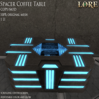 {LORE}Spacer Coffee Table Ad