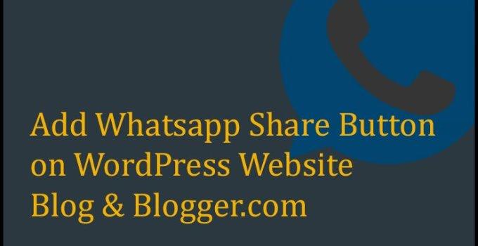 Whatsapp Share Button