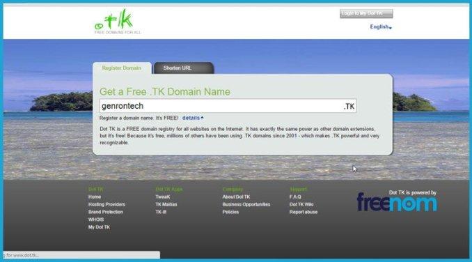 Free dottk Domain