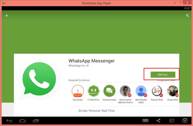 How to download whatsapp for Pc / laptop screen shot